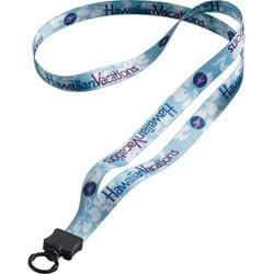 "1/2"" RPET Dye Sublimated Lanyard with Plastic Clamshell & O-Ring"