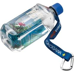 "3/4"" RPET Dye Sublimated Water Bottle Strap with Carabiner"