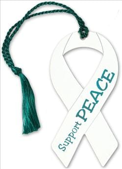 Awareness Ribbon Metal Tassel Bookmark