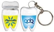 Tooth Shaped Dental Floss With Key Chain