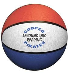 Large Rubber Basketball (red/white/blue)