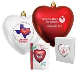 4 IN> Heart Shaped Ornament