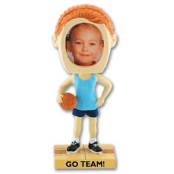 Girl's Basketball Bobble Heads