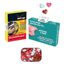 Advertising Mint/Candy/Gum Box with Candy Hearts
