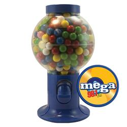 Blue Gumball Machine with Gum - Bubble Gum