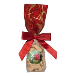 Mug Stuffer Gift Bag with Animal Crackers - Red Swirl