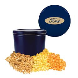 Blue Two Gallon Popcorn Tin - Three Flavors