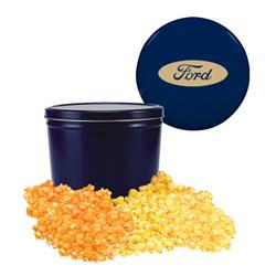 Blue Two Gallon Popcorn Tin - Two Flavors