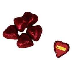 Individually Wrapped Candy Hearts - Red