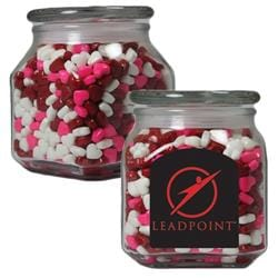 Apothecary Jar with Candy Hearts - Medium