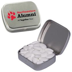 Caffeinated Silver Mint Tin filled with caffeinated mints