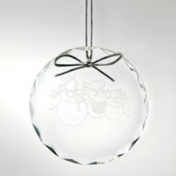 Round Optic Crystal Ornament