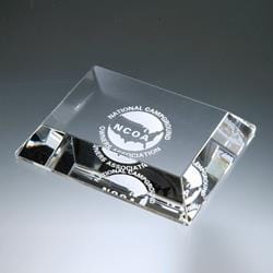 Award- Awards, Trophy,Mitered Edge Paperweight
