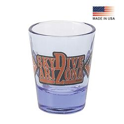 2 oz Blue Tint Clear Shot Glass