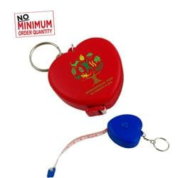 3' Heart Tape Measure W/Key Chain