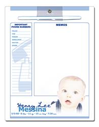 Announcement Memo Board - 8.5x11 Laminated - 14 pt.