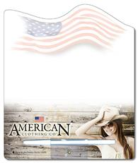 Memo Board - 8.5x10.125 Laminated Shaped (Flag) - 14 pt.