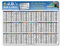 Laminated Card Football Schedule - 11x8.5 - 14 pt.