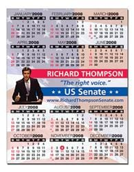 Political Laminated Card - 8.5x11