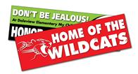 Removable Rectangle Bumper Sticker / Decal - Vinyl UV Coated - 8.625x2.5