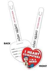 Plastic Heart I.D. Tags UV-Coated (1S) - 3.25x9.5 - 10 pt