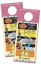 Door Hanger - 3.5x8.5 Extra-Thick UV-Coated (1S) with Slit - 14 pt.