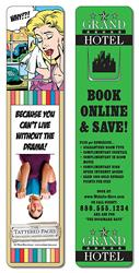 Bookmark - 1.75x8 Extra-Thick UV-Coated (1S) w/Page Holder - 14 pt.