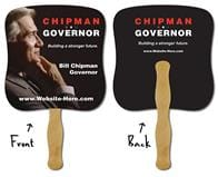 Political Hand Fan - 7.375x7.75 Laminated