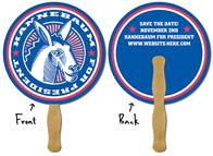 Political Hand Fan - 8.5 Inch Diameter Circle