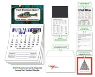 Magna-Cal Business Card Magnet Calendar - Jan. 2014