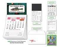 Magna-Cal Business Card Magnet Calendar - April 2014