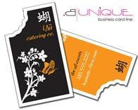 Extra-Thick UV-Coated (1S) Paper Business Card - B. Unique Shape (3.5x2)