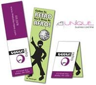 Extra-Thick UV-Coated (1S) Folded Paper Business Card (3.5x2) - B. Unique Shape