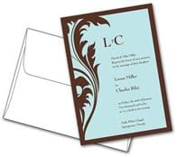 Wedding Invitation with Envelopes Flat - 5x7