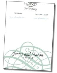 Wedding Program Card Flat - 5x7