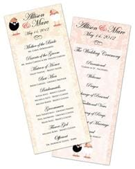 Wedding Program Card Flat - 3.5x8.5