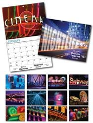 13 Month Custom Appointment Wall Calendar - NIGHTLIFE