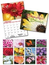 13 Month Custom Appointment Wall Calendar - BEAUTIFUL BLOOMS