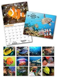 13 Month Custom Appointment Wall Calendar - UNDER THE SEA