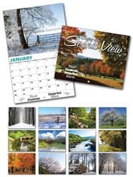 13 Month Custom Appointment Wall Calendar - SCENIC VIEW