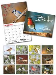 13 Month Custom Appointment Wall Calendar - BIRDS