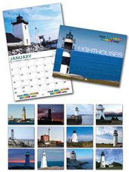 13 Month Custom Appointment Wall Calendar - LIGHTHOUSES