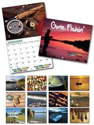 13 Month Custom Appointment Wall Calendar - GONE FISHIN'