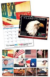 13 Month Custom Appointment Wall Calendar - LAND OF THE FREE