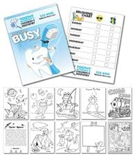 Activity Coloring Book - 8.5x11 - (12-Page Dentist)