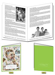 20-page (8.5x11) Booklet, Brochure or Catalog - Black Pages
