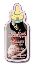 Announcement Magnet - Baby Bottle Shape (1.625x3.75) - 25 mil.