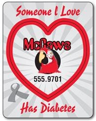 Awareness Magnet - Picture Frame Heart Punch (3.5x4.5) - 25 Mil.