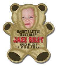 Announcement Magnet - Teddy Bear Shape (4x4.625) - 25 mil.