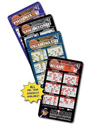 Magnet Sport Schedules - 3.5x6 Basketball Round Corners - Outdoor Safe